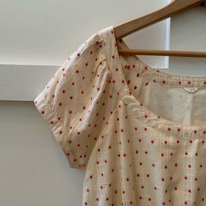 J. Crew Dresses - j crew tea stained polka dot dress